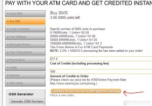 See the total amount you would be charged and continue to the Gateway