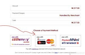 If you are using an interswitch, verve or naira mastercard, click on the link indicated, or  click on etranzact.